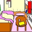 ベッドのある部屋